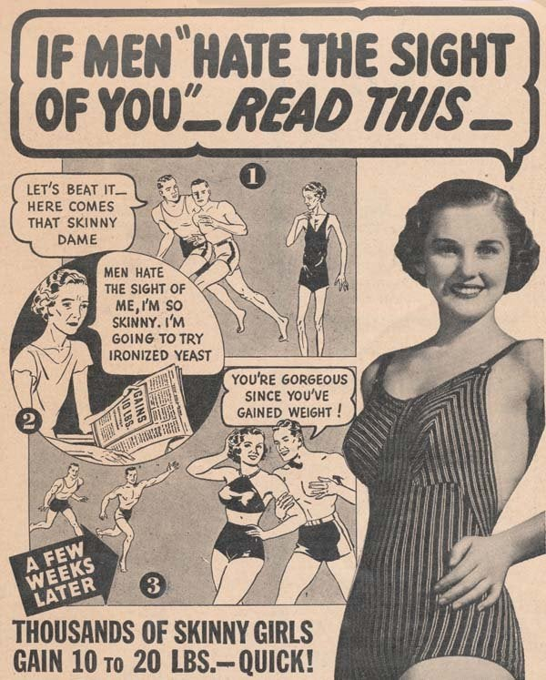 old time newspaper ad about women