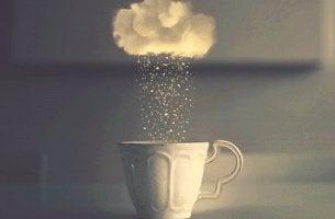 A cloud over a tea cup