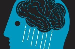 depression pictured as a rain cloud in one's head