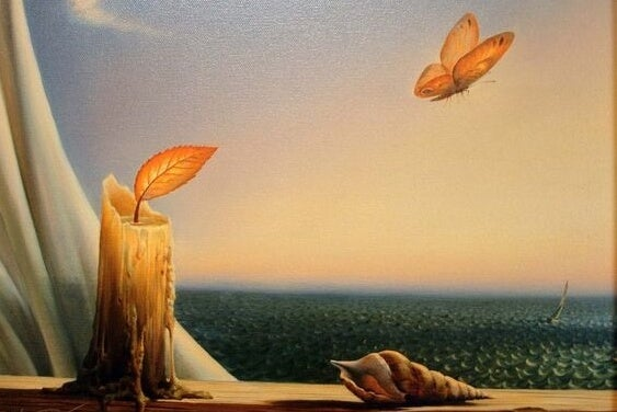 a fantasy scene of a butterfly