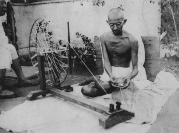 Gandhi weaving