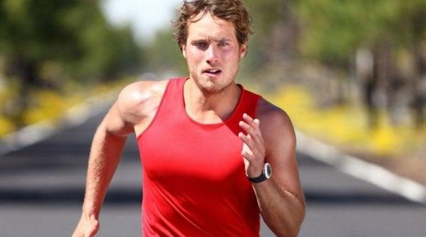 løping frigjør adrenalin