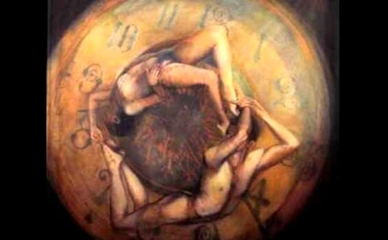 people in a clock