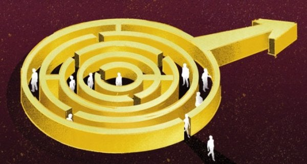 sexism symbolized with a maze