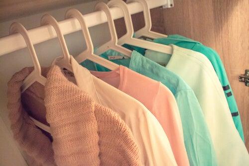 shirts in closet