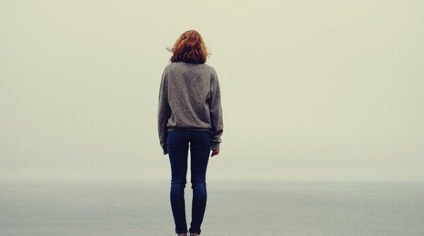 a lone woman