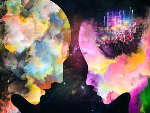 two colorful minds: awakening of consciousness