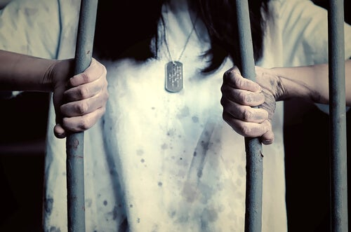 a woman in the prison of learned helplessness