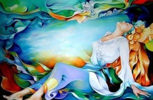 A woman in a colorful background refuses to give up her heart.