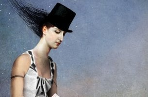 Woman with a top hat.