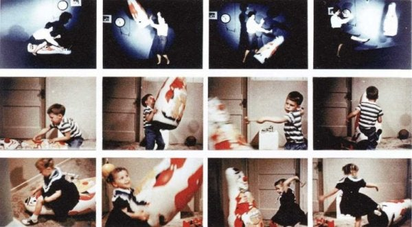 The Bobo doll experiment.