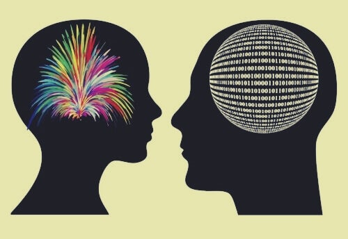 differences in brains: colorful explosion versus ordered sphere