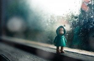 Child's sad doll