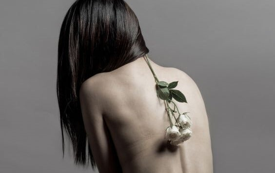 flower on back