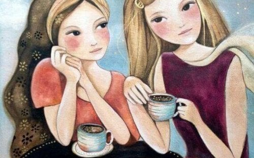 girls having coffee