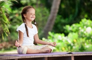 girl practicing meditation