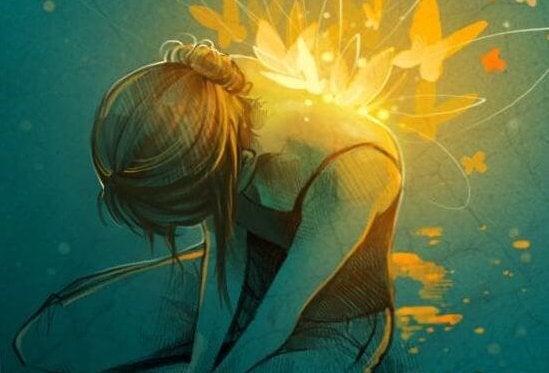 Konstruktiv smerte, en jente med følelser.