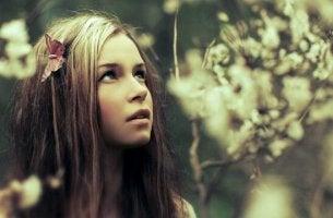 Girl in silence