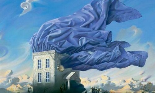 House in wind