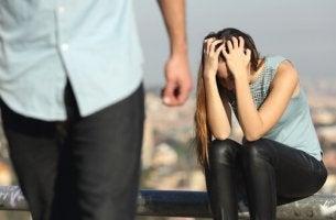 woman showing jealousy