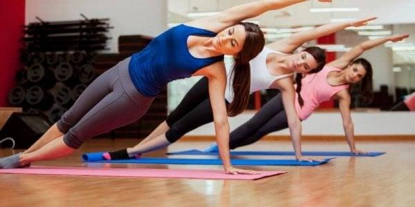 A pilates class.
