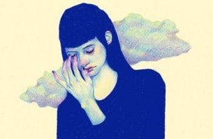 Woman with bad self-esteem