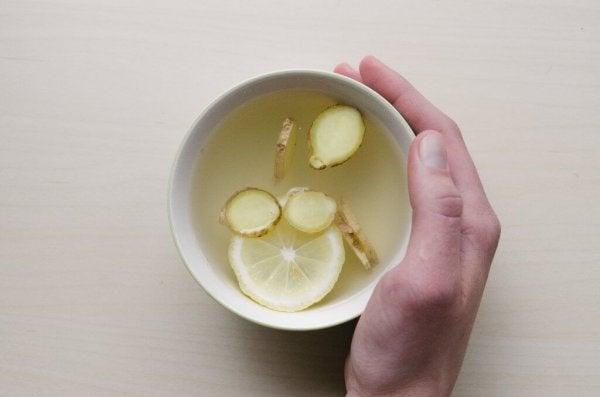 Ginger and lemon.