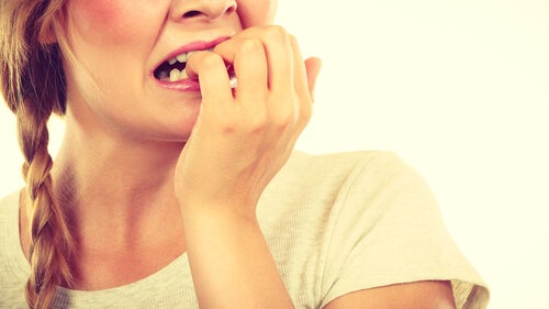 Biting your nails means nervousness