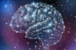 A brain mapped out in the stars.