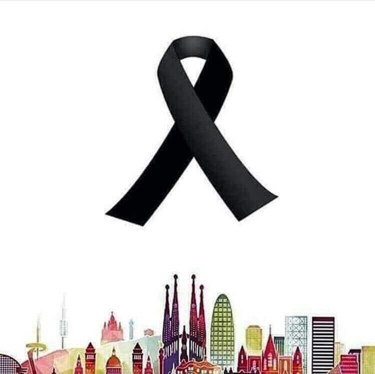 A black ribbon, pray for Barcelona.