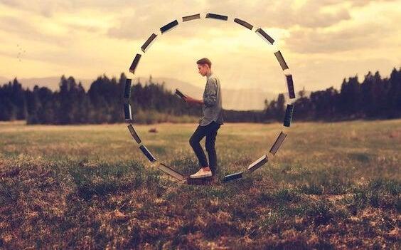 man in wheel