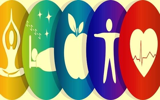Figures representing wellness.