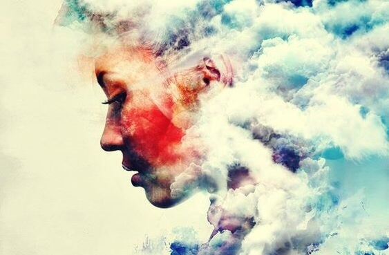 Beliefs that keep you from growing: a colorful, cloudy woman.