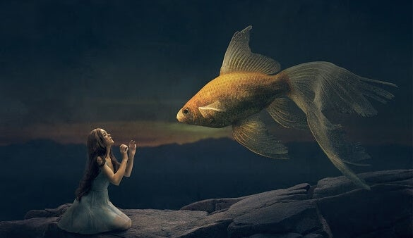 girl and fish
