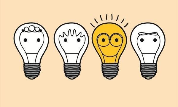 group of lightbulbs