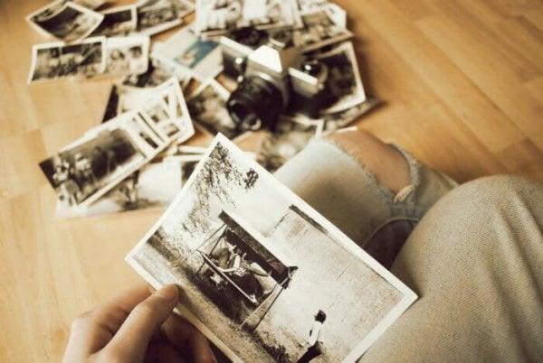 Looking at past photos