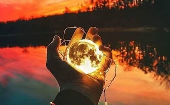 세계를 손에 들고.