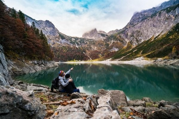 The beauty of nature in a couple.