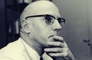 A portrait of Michel Foucault.