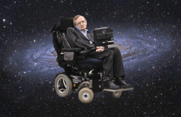 Stephen Hawking in wheelchair
