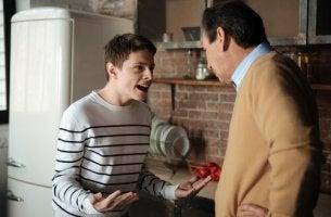 Teen shouting at Dad