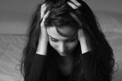 A worried mom, victim of mom shaming.