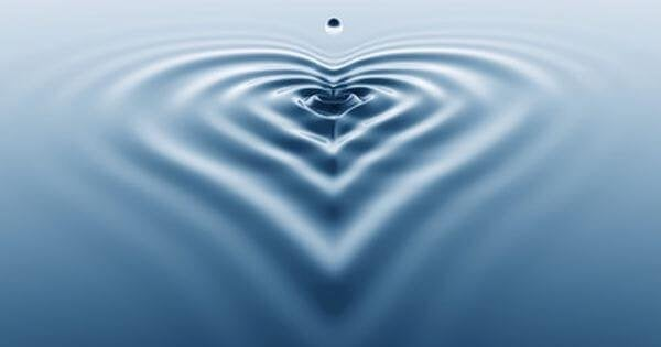 The ripple effect, like a heart.