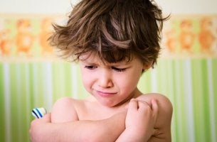 A grumpy little boy.