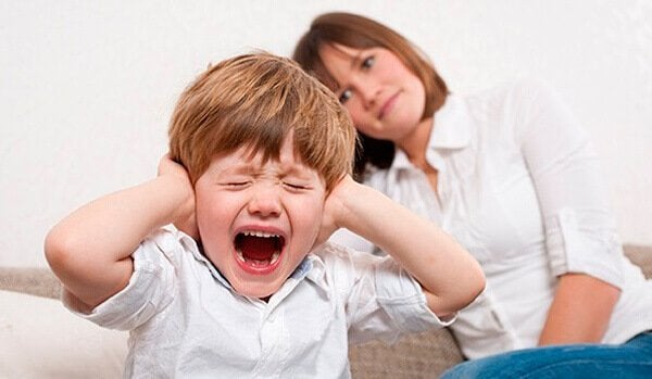 Little boy screaming