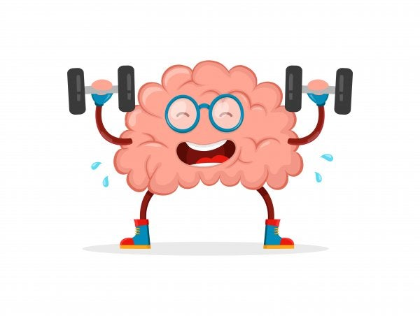 Brain doing exercise