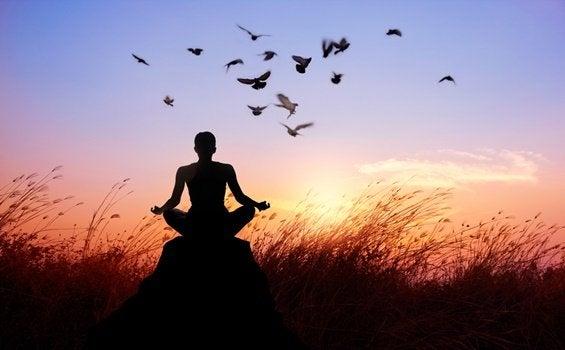 buddhist monk eliminating suffering
