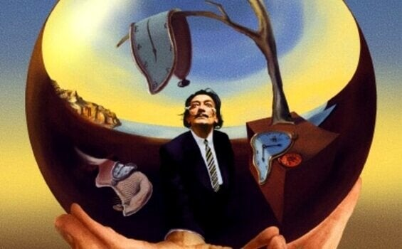 dali with melting clocks