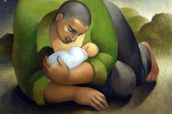 Father with his child