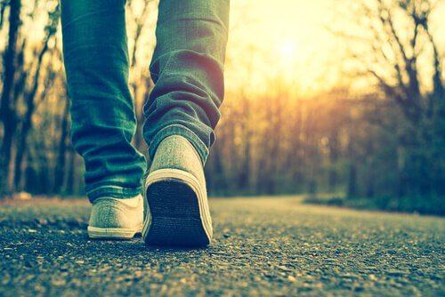 Taking a walk.